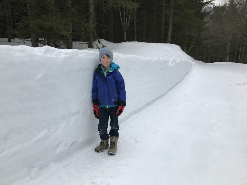 ... wenn der Schnee so hoch ist, wie die Kinder groß sind :-)