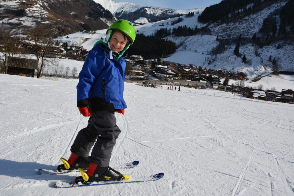 Erster Skiurlaub mit Kindern - hier konnte der Kleine dann auch Skifahren
